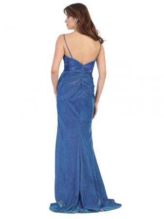 Rochie France Mode M1730 albastra lunga de seara mulata1