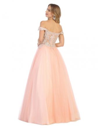 Rochie France Mode M1734 roz lunga de seara princess2