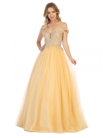 Rochie France Mode M1734 bej lunga de seara princess0