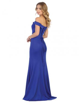 Rochie France Mode M1739 albastra lunga de seara mulata1