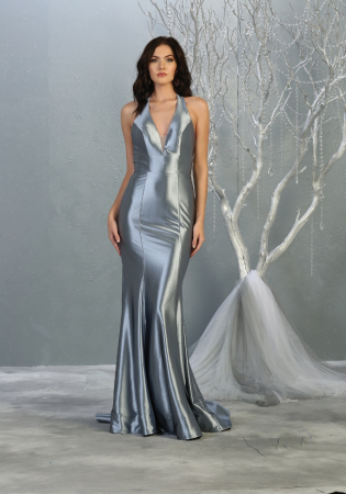 Rochie France Mode M1740 bleu lunga de seara sirena0