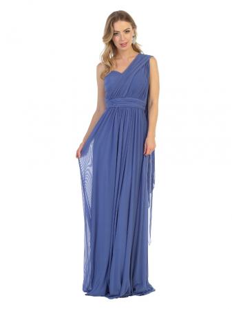 Rochie France Mode M1746 bleu lunga de seara clos [1]