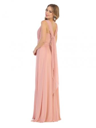 Rochie France Mode M1746 roz lunga de seara clos1