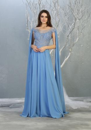 Rochie France Mode M1749 bleu lunga de seara clos0