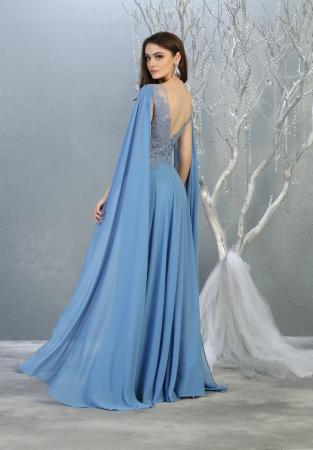 Rochie France Mode M1749 bleu lunga de seara clos1