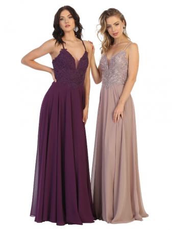 Rochie France Mode M1750 violet lunga de seara clos1