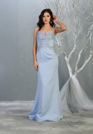 Rochie France Mode M1759 bleu lunga de seara sirena [0]