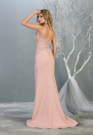 Rochie France Mode M1759 roz lunga de seara sirena2