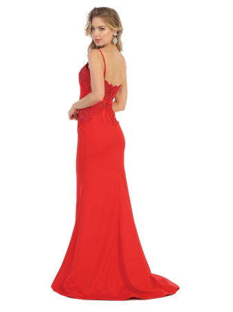 Rochie France Mode M1759 rosie lunga de seara sirena [1]