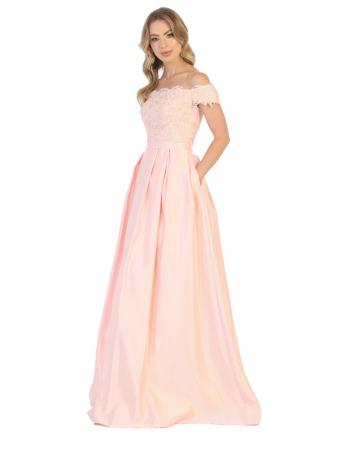 Rochie France Mode M1762 roz lunga de seara A-line0