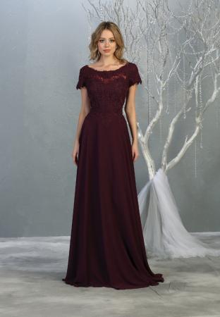Rochie France Mode M1763 violet lunga de seara clos1