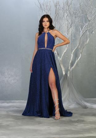 Rochie France Mode M1764 albastra lunga de seara clos [0]