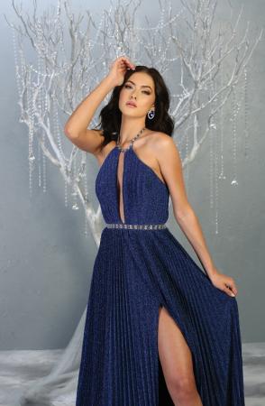 Rochie France Mode M1764 albastra lunga de seara clos [1]