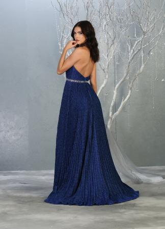 Rochie France Mode M1764 albastra lunga de seara clos [2]