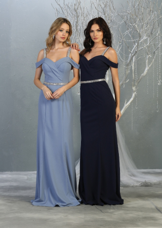 Rochie France Mode M1765 bleu lunga de seara mulata [2]