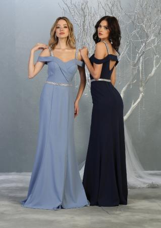 Rochie France Mode M1765 bleu lunga de seara mulata [3]