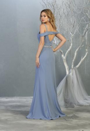 Rochie France Mode M1765 bleu lunga de seara mulata [1]