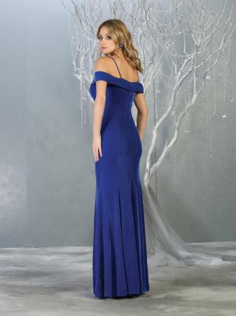 Rochie France Mode M1767 albastra lunga de seara mulata1
