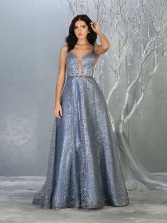 Rochie France Mode M1771 bleu lunga de seara clos0