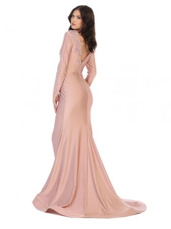Rochie France Mode M1772 roz lunga de seara sirena1