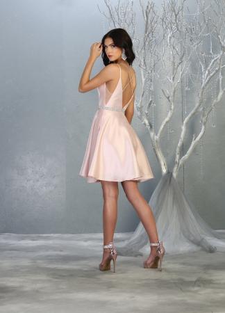 Rochie France Mode M1775 roz scurta de ocazie baby doll1