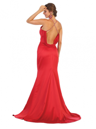 Rochie France Mode M1779 rosie lunga de seara sirena [2]