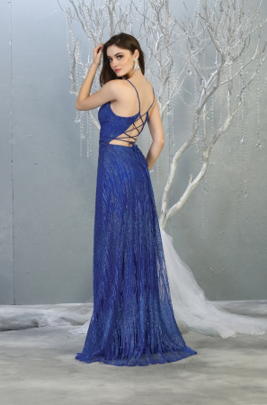 Rochie France Mode M1780 albastra lunga de seara clos [1]