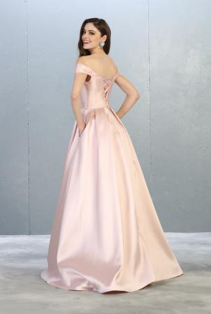 Rochie France Mode M1784 roz lunga de seara princess [2]