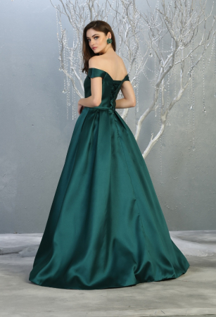 Rochie France Mode M1784 verde lunga de seara princess1