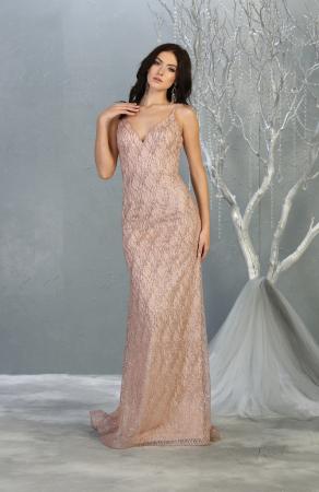 Rochie France Mode M1790 roz lunga de seara sirena [0]