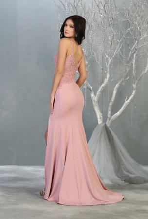 Rochie France Mode M1792 roz lunga de seara mulata [1]