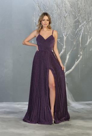 Rochie France Mode M1795 violet lunga de seara clos [1]