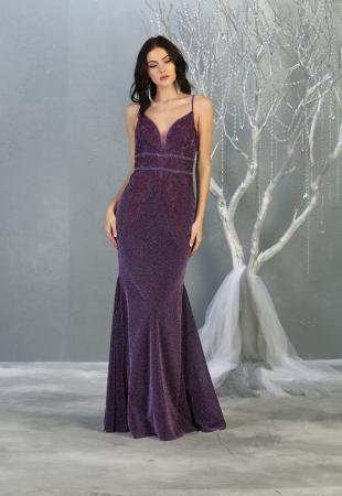 Rochie France Mode M1796 violet lunga de seara sirena [0]