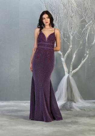 Rochie France Mode M1796 violet lunga de seara sirena [1]