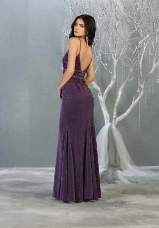 Rochie France Mode M1796 violet lunga de seara sirena [2]