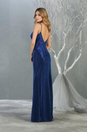 Rochie France Mode M1796 albastra lunga de seara sirena [2]