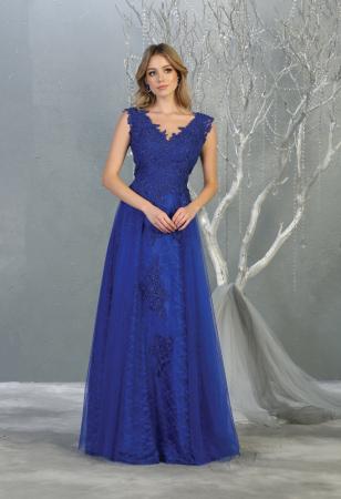 Rochie France Mode M1799 albastra lunga de seara clos [1]