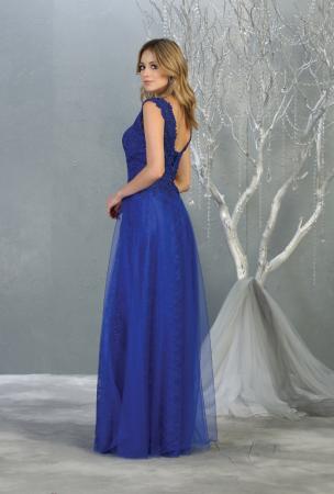 Rochie France Mode M1799 albastra lunga de seara clos [2]