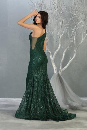 Rochie France Mode M1804 verde lunga de seara sirena [2]
