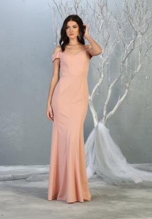 Rochie France Mode M1807 roz lunga de seara mulata [0]