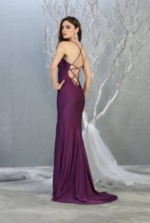 Rochie France Mode M1820 violet lunga de seara mulata [1]