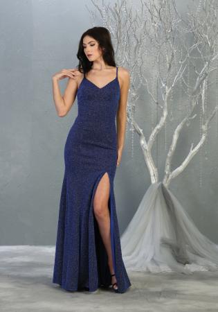 Rochie France Mode M1822 albastra lunga de seara mulata [1]
