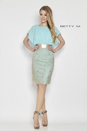 Rochie Betty M Bahama bleu midi de cocktail mulata0