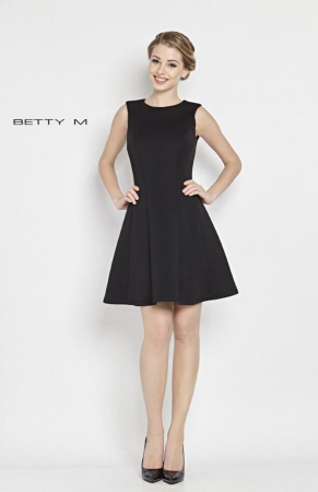 Rochie Betty M Central neagra scurta de cocktail  baby doll2