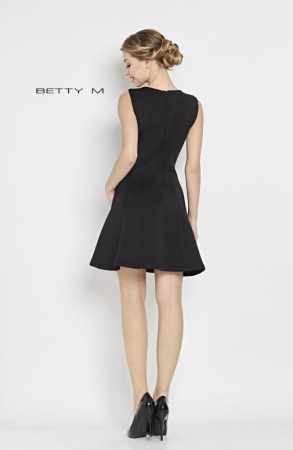 Rochie Betty M Central neagra scurta de cocktail  baby doll3