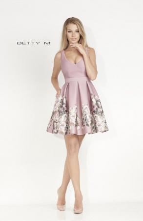Rochie Betty M Happy lyla cu flori scurta de vara baby doll0