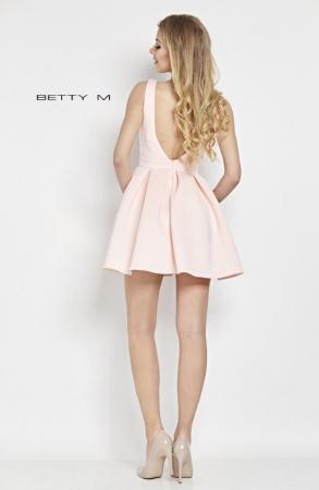 Rochie Betty M Happy roz scurta de cocktail baby doll2