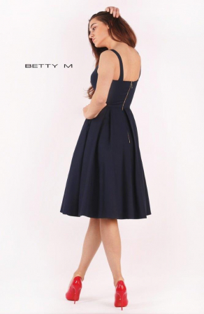 Rochie Betty M Ivent bleumarin midi de cocktail baby doll3