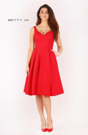 Rochie Betty M Ivent rosie midi de cocktail baby doll1