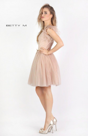 Rochie Betty M Misty bej scurta de cocktail baby doll3